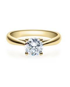 Verlobungsring  18002 gelbgold 1 ct
