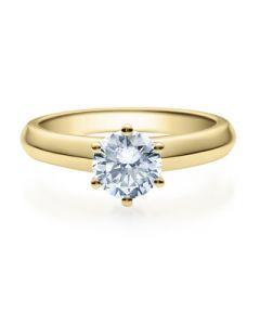 Verlobungsring  18003 gelbgold 1 ct