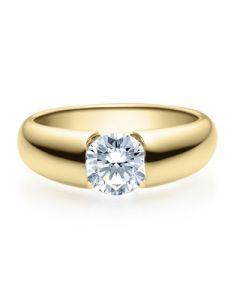 Verlobungsring  18006 gelbgold 1 ct