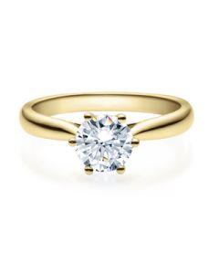 Verlobungsring  18007 gelbgold 1 ct