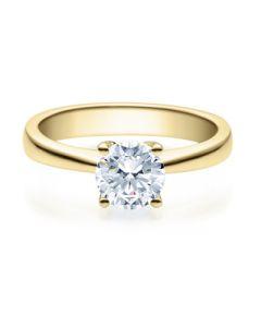 Verlobungsring  18008 gelbgold 1 ct