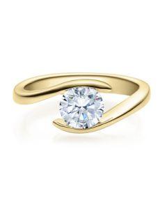 Verlobungsring  18015 gelbgold 1 ct