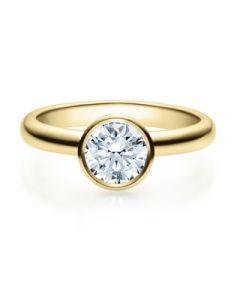 Verlobungsring  18019 gelbgold 1 ct