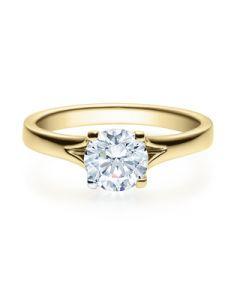 Verlobungsring  18020 gelbgold 1 ct