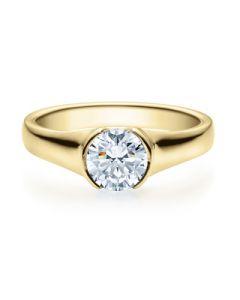 Verlobungsring  18022 gelbgold 1 ct